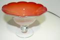 大正ロマン 手作りガラスの氷カップ(コンポート) 赤 珍品