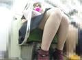 【4K】【PPトレイン16】 総尺11:45 細身巨乳 お顔 with フロント