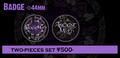 ANCIENT MYTH Badge set