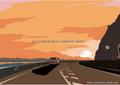 「Sun-set—Time」 湘南イラスト版画作品
