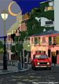 French night 世界の風景イラスト版画作品