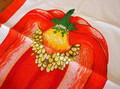 FV103★特大パプリカのイラストが入った60年代ヴィンテージタオル