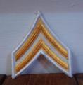 ミリタリーワッペン 米軍U.S.ARMY 二等軍曹ワッペン(黄×白)