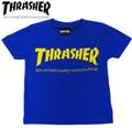 ※ゆうメール便発送可能です☆ フレイク FLAKE スラッシャー THRASHER LOGO 半袖Tシャツ(ブルー)