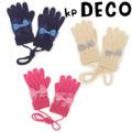 ゆうメール便OK☆ ニットプランナー KP ケーピー M/L【女の子】KP DECO(ケーピーデコ)リボンモチーフの手袋。お揃いのマフラーもあります! 758507k0