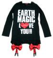 ★SALE★  アースマジック EARTHMAGIC ガーターベルト風ロング丈Tシャツ(160cm)