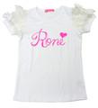ゆうメール便OK☆ ロニィ RONI 天竺チュールレースパフスリーブTシャツ RN2025-1372231201310
