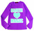★SALE★ ※ゆうメール便OK☆ アースマジック EARTHMAGIC ロゴハート長袖Tシャツ(140cm)