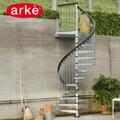 《OUTLET》CivikZink直径160㎝ 屋外用螺旋階段