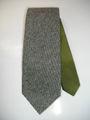 ステッチアップ ハイホリゾンタリー (モスグリーン×グレーツイード柄) 織ネクタイ