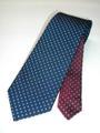 ダブルフェイス小紋柄(紺×エンジ) 織ネクタイ