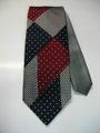ダブルフェイスパッチワーク(水玉×千鳥) 織ネクタイ