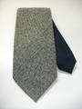 ステッチアップ ハイホリゾンタリー (濃紺×グレーツイード柄) 織ネクタイ