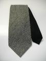 ステッチアップ ハイホリゾンタリー (黒×グレーツイード柄) 織ネクタイ
