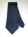 ステッチアップ ハイホリゾンタリー (濃紺タック格子×紺格子) 織ネクタイ