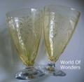 アメリカ製 フォストリア ジューンイエロー グラス