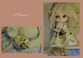 紅茶染め*刺繍チュールのふんわりワンピ(再販)