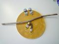 Beads Fringe Pierce Earring (Yellow)