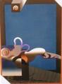 紙や古典に精通し、その多彩な表現は世界中の愛好者を魅了する!!黒崎 彰(くろさき あきら:Akira Kurosaki)の木版画作品 題:めまい 専用額付き(簡易化粧箱入り)  【 ビーグラッド通販 】