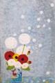 【この超限定】テーマは、やっぱり、・・・・Ikutomo Kuroki・Woodblock・花瓶・春・わたぼうし!!黒木 郁朝(くろき いくとも)の木版画=季の色シリーズ=作品 題名:春の花(はるのはな)  専用オリジナル額付き(簡易化粧箱入り)  【 ビーグラッド通販 】
