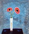 【この超限定】テーマは、やっぱり、・・・・Ikutomo Kuroki・Woodblock・花瓶・春・野けし!!黒木 郁朝(くろき いくとも)の木版画作品 題名:野けしの花(のけしのはな)  専用オリジナル額付き(簡易化粧箱入り)  【 ビーグラッド通販 】
