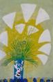 【この夏超限定】テーマは、やっぱり、・・・・花瓶・すすき・薄!!黒木 郁朝(くろき いくとも)の木版画=季の色シリーズ=作品 題名:ススキ(すすき)  専用オリジナル額付き(簡易化粧箱入り)  【 ビーグラッド通販 】