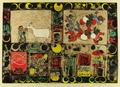 【この超限定】テーマは、やっぱり、・・・・Ikutomo Kuroki・Woodblock・やぎ・収穫!!黒木 郁朝(くろき いくとも)の木版画 作品 題名:山羊の居る家 収穫(やぎのいるいえ しゅうかく)  専用オリジナル額付き(簡易化粧箱入り)  【 ビーグラッド通販 】