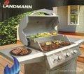 LANDMANN 3バーナー ステンレスBBQグリル 屋外用 #8241