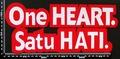 ピー・ティー・アストラ P.T.アストラ One HEART Satu HATI ワッペン パッチ  00175