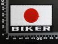 日本 国旗 日の丸 biker バイク  ワッペン パッチ 00580