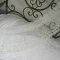 小花刺繍のチュール