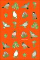 ポストカード「文鳥づくし」(SAT0018)