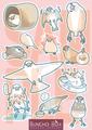 文鳥シール赤(BCB0002)