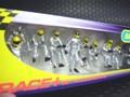 Scalextric1/32スロットカー用アクセサリー 8292◇ピットクルー8体セット/フューエルタンク付き  「Fuel Cherge Crew/シルバー」  (Fuel Men x2 Wheel Men x6)  展示演出に最適!
