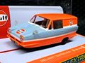 """Scalextric 1/32 スロットカー C4193◆ Reliant Regal Van """"Gulf Edition"""".  リライアント・リーガル バンにガルフエディション新発売!★再入荷しました。"""