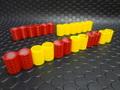 """Team Slot 1/32 ジオラマ用 アクセサリー 6363016◆タイヤバリヤ レッド/イエロー 12組set  """"NEUMATICOS """"    セーフティーゾーンに!◆小さな工夫でニクイ演出!"""