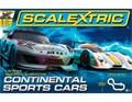 Scalextric 1/32 コースセット  C1319◆Continental Sports Cars Set/コンチネンタル スポーツ  アナログコースセット  スロットカー2台入り コントローラー、AC電源付  お奨め商品★ビギナー向け・格安商品!