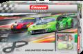 Carrera Evolution 132 コースセット 25221◆unlimited racing 「アンリミテッド レーシング」 ランボルギーニとフェラーリの対決! 2台入りフルセット 全長5.3m ★お買い得・アナログset 入荷!
