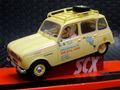 """SCX 1/32 スロットカー A10221X300◆RENAUT  4L   """"Tierra de Fuego""""  #4 Argentina~Alaska, 1965 Les 4 Elle Ray ライト点灯モデル★入荷しました!"""