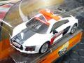 """Carrera-Go スロットカー 1/43  64063 ◆AUDI R8 V10 PLUS  """"SAFETY CAR""""   最新アウディーR8のセーフティーカー!! カレラGoは1/32のコースでそのまま走れます☆屋根のパトライトが光るよ!"""