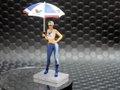 """RACER / SIDEWAYS 1/32  レジン製フィギュア  SWFIG/013◆ Valvoline girl with umbrella """"Milla""""   バルボリン グリッドガール アンブレラ付  早くも入荷!★2017 新春・初荷入荷!。"""