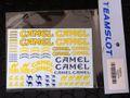 "teamslot社製 1/32 スロットカー用デカール ◆キャメルのデカールセット ""CAMEL""   1/32スケールで使い道いろいろ!◆ウォータースライドデカール。"