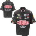 "NASCAR公式商品   ピットクルーシャツ◆#24 Jeff Gordon""DuPont""                 ブラック/コットン製・前後刺繍ロゴ入り。   ★緊急入荷!"
