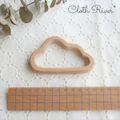 送料無料 木製歯固め  ∴∵∴ お空の雲 ∴∵∴