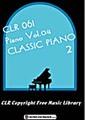 CLR061-Piano Vol.04「クラシックピアノ 2」【著作権フリー音楽集】
