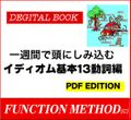電子書籍「一週間で頭にしみ込むイディオム基本13動詞編」PDF版 ダウンロード販売