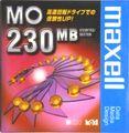 MOディスク 230MB マクセル アンフォーマット 1枚