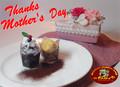 母の日☆手づくりカップケーキ&ケーキ型プリザーブド・フラワー☆特選セット