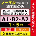 【A2/B2/A1】ノーマルラミネート 1~5枚