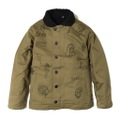 "DUCKTAIL CLOTHING N-1 DECK JACKET ""LAUGH AND ""GLOW"" FAT"" KHAKI"